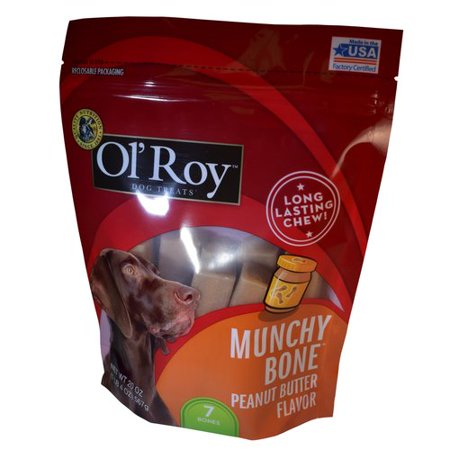 Ol Roy Munchy Bone Peanut Butter Flavor Chews Dog Treats  7 Ct
