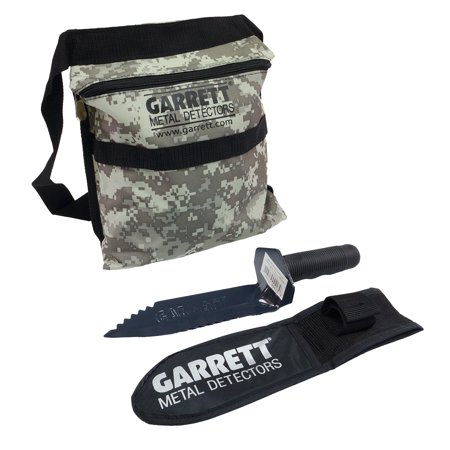 Garrett Edge Metal Detector Digger with Sheath and Camo Finds Pouch Combo Metal Upgrade Combo