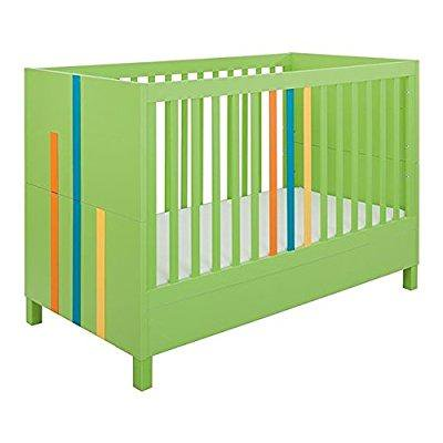 little guy comfort hometown childrens convertible 3 in 1 crib and youth bed - lime -