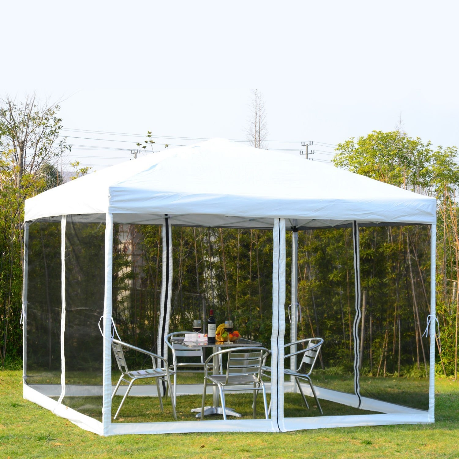 New MTN-G 10x10ft Outdoor Patio Pop Up Party Tent Canopy Gazebo