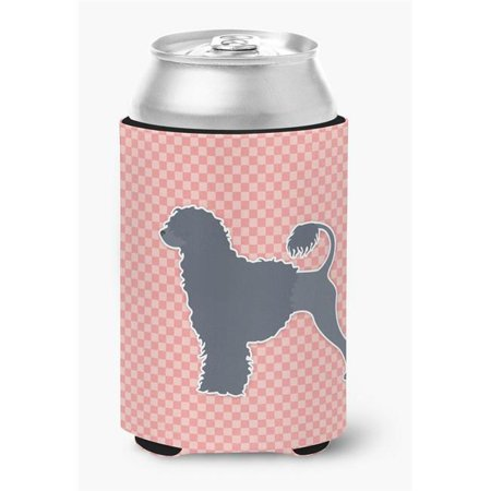 Portuguese Water Dog Checkerboard Pink Can or Bottle Hugger - image 1 de 1