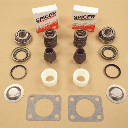 KINGPIN BEARING SEAL REBUILD KIT W/ BUSHING & SPRING GM CHEVY DANA 60 DANA 77-91 (Dodge Dana 60)