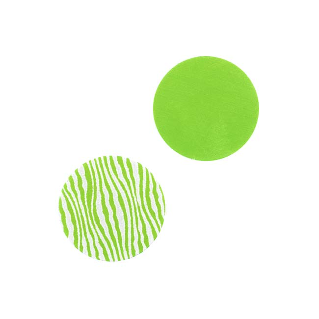 Lillypilly Aluminum Circle Stamping Lime Green W/Zebra Print 16mm (2)