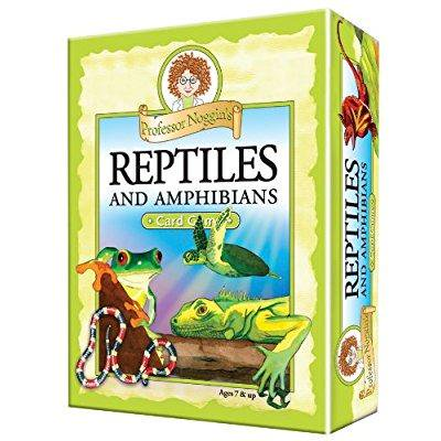 professor noggin's reptiles and amphibians - a educational trivia based card game for kids