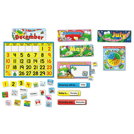 Carson-Dellosa Publishing Frog Calendar Bulletin Board Set](Bulletin Board Calendar)