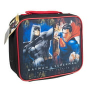 LUNCH BAG BATMAN AND SUPERMAN SOFT SIDED CORDURA INSLTD, Case Pack of 6