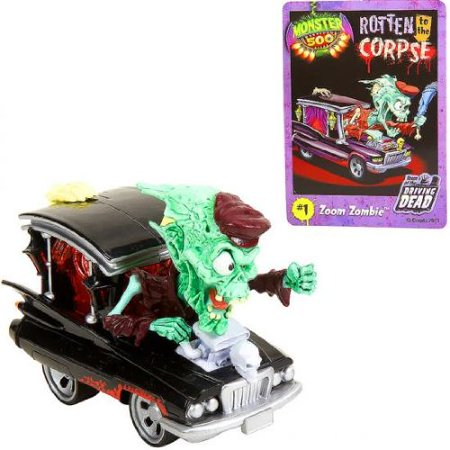 Monster 500 Large Car & Trading Card - Zoom Zombie, Product Dimensions (in inches):6.9 x 5.6 x 4.9 By Toys R Us Ship from US - Toys R Us Lima