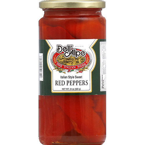 Dell' Alpe Italian Style Sweet Red Peppers, 24 oz, (Pack of 12)