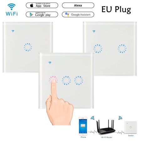Pixnor Wireless Touch Remote Control Switch Panel with Switch 1 Gang Wifi Link with iOS/Android APP eWeLink