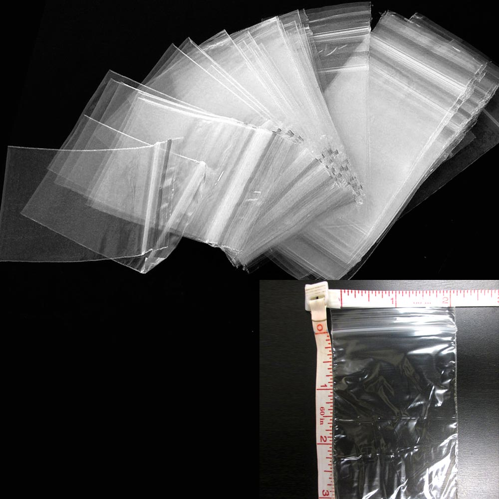 "1000 Baggies W 2""X3""H Small Ziplock Reclosable Seal Clear Plastic Poly Bag 2.5ml"