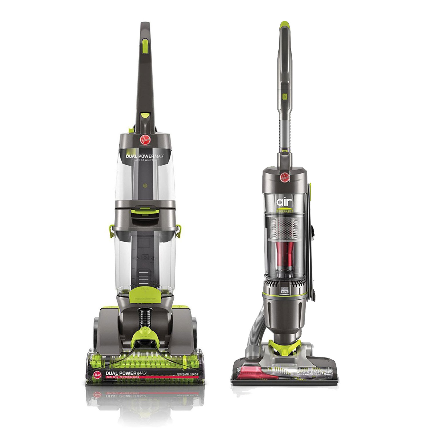 Hoover Dual Power Heat Carpet Washer + WindTunnel Vacuum (Certified Refurbished)
