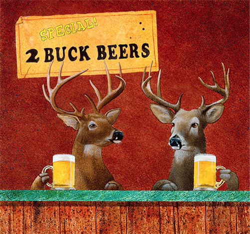 Deer Camp Novelty SignFunny Home Décor Garage Wall Plastic Gag Gift