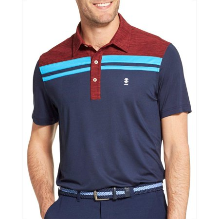 IZOD Golf Mens Colorblocked Stripe Polo Shirt ()