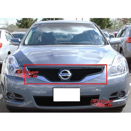 Grille Coupe - Compatible With 2010-2012 Nissan Altima Coupe Black Stainless Steel Mesh Grille Grill Insert #N76752H