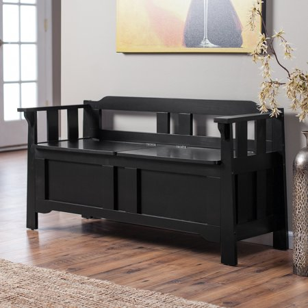 Parker Indoor Storage Bench With Optional Bench Cushion Black