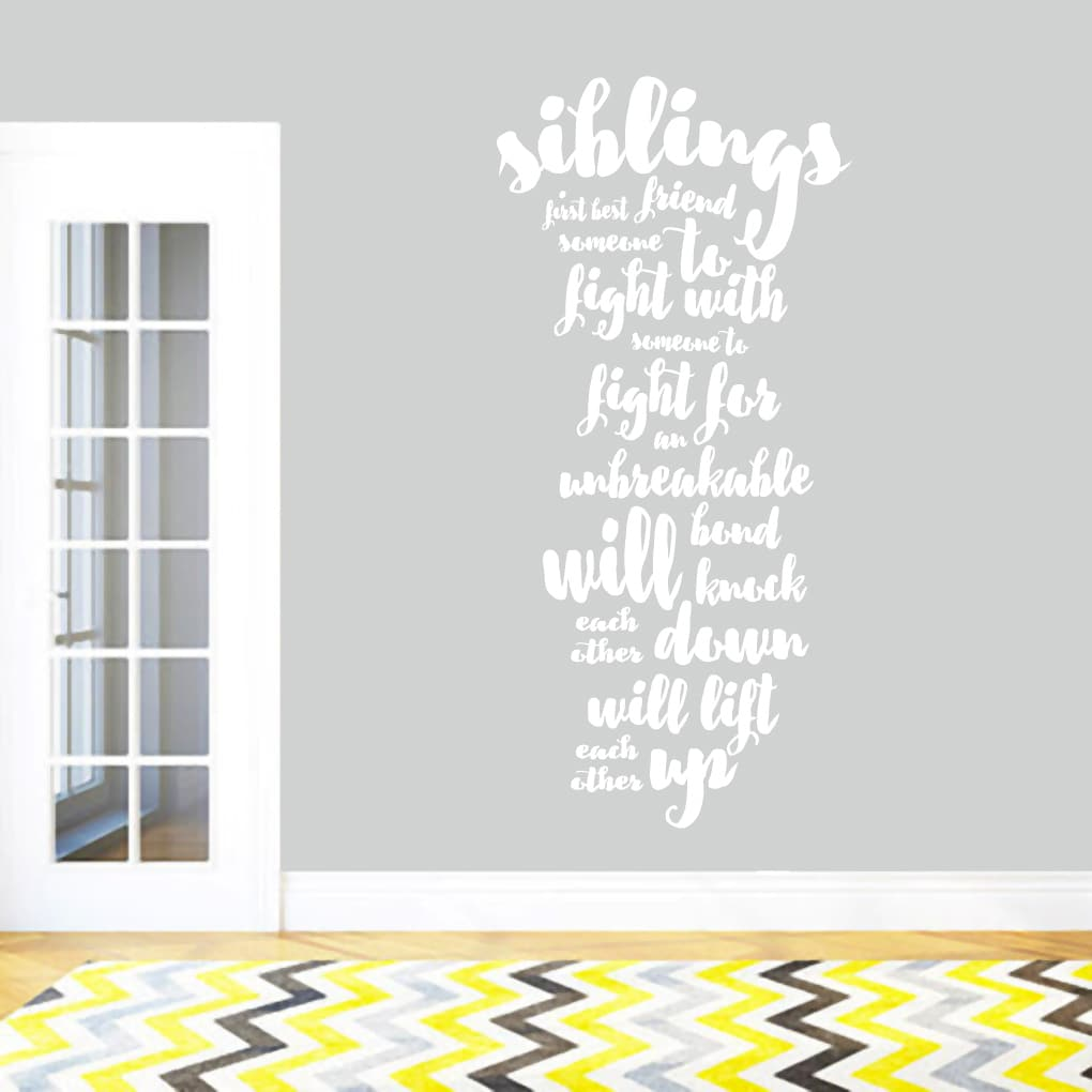 Sweetums Siblings Wall Decal Quote 28-inch x 60-inch