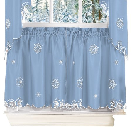 Metallic Snowflake Curtain Christmas Decoration, 58
