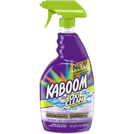 Kaboom Shower, Tub & Tile with the power of OxiClean Stainfighters, 32oz. Bathroom Cleaner Meyers Shower Cleaner