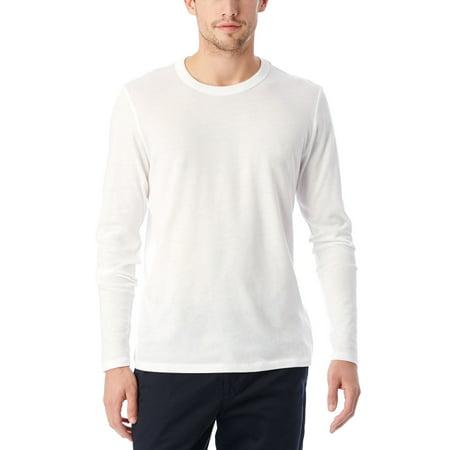 Alternative Men's Keeper Vintage Jersey Long Sleeve T-Shirt, White, Large