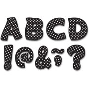 "Teacher Created Resources, TCR77216, Black/Dots 3"" Magnet Letters, 67 / Pack, Black,White"