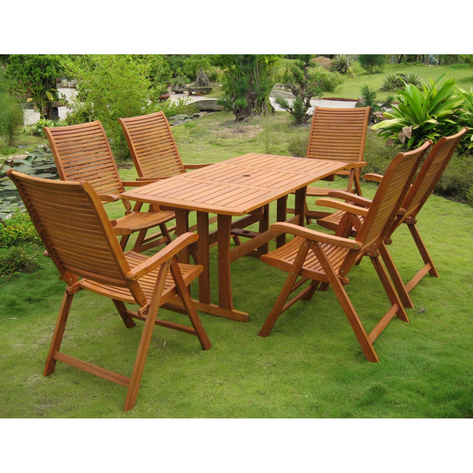 International Caravan Royal Tahiti Granada 7 pc. Contemporary Patio Dining Set