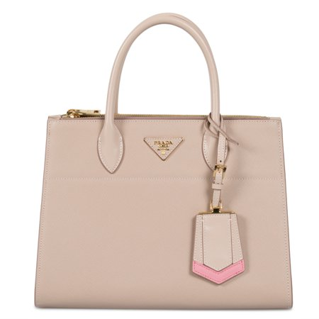 e7f88d09d55b Prada - Prada Paradigme Saffiano Leather Bag In Cammeo - Walmart.com