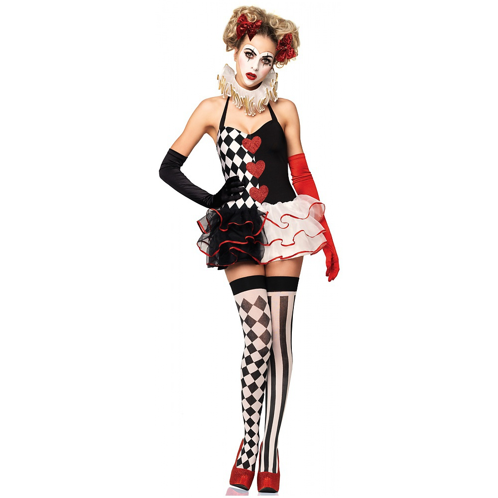 Sweetheart Harlequin Tutu Costume Dress Adult