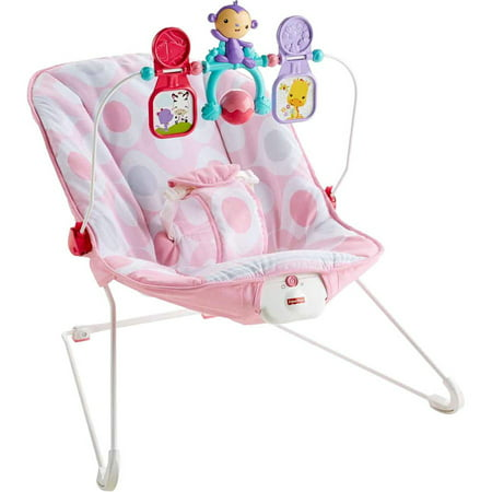 Fisher-Price Baby's Bouncer with Removable Toy Bar, Pink