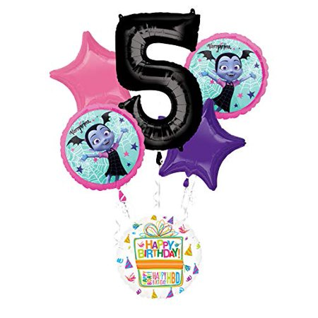 Mayflower Products Vampirina 5th Birthday Party Supplies Balloon Bouquet Decorations