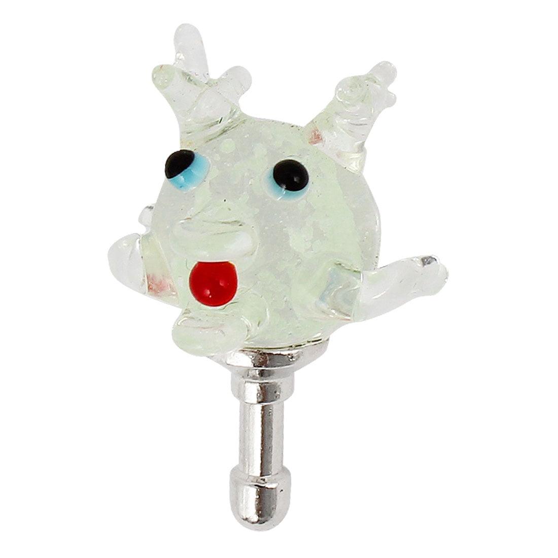 Clear Glow in Dark Deer Oranment 3.5mm Earphone Dust Proof Ear Cap Stopper