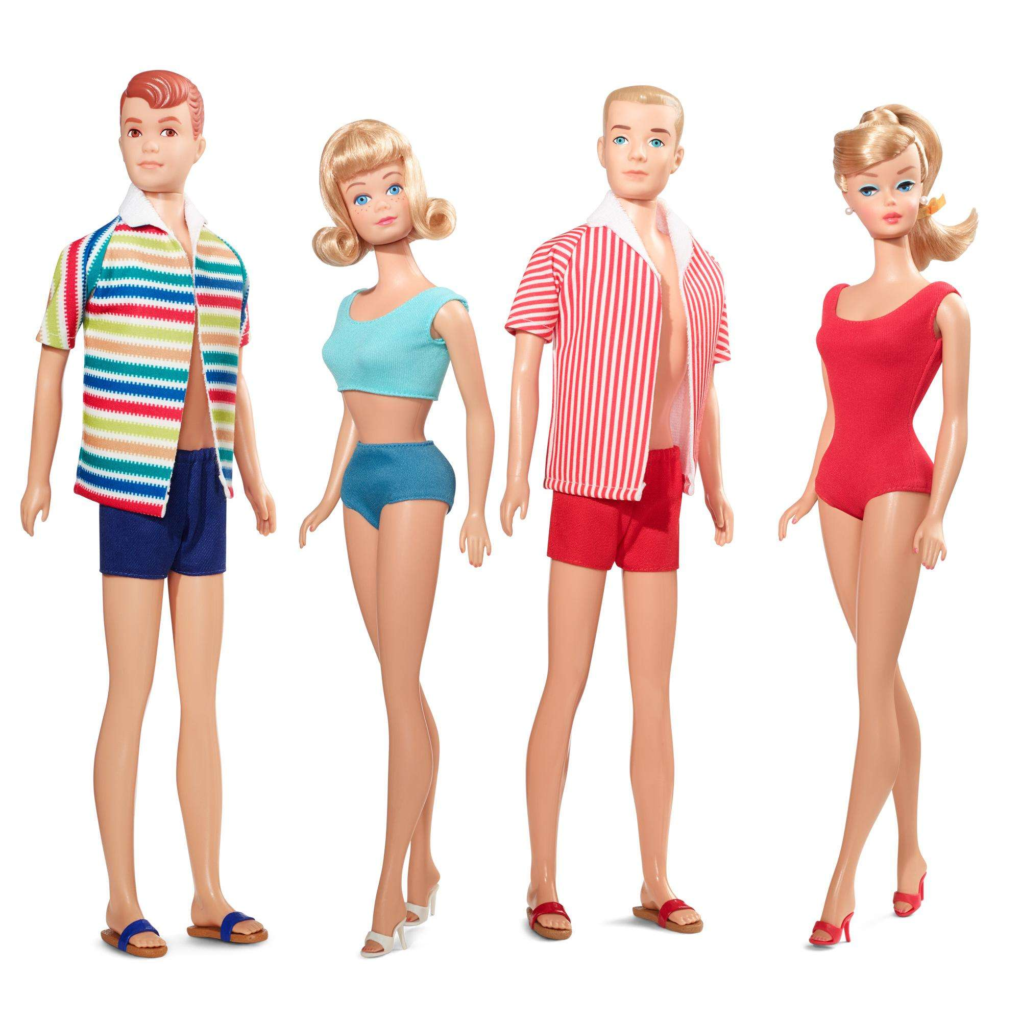 Mattel BARBIE VINTATGE FAMILY SET