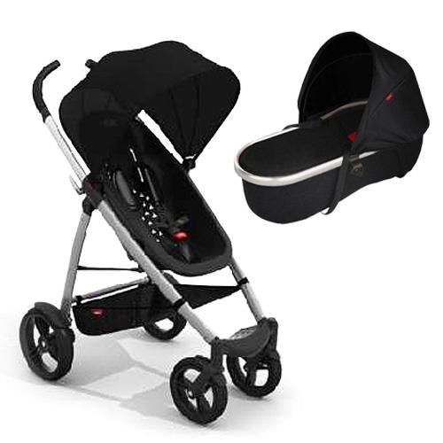 Phil & Teds SMBUGGYNBAS, Smart Buggy and Peanut Bassinet Bundle  - Black