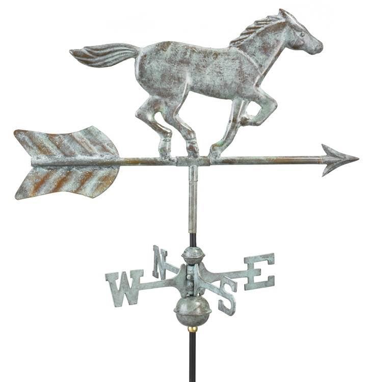 Good Directions 801PG Horse Garden Weathervane Pure Copper with Garden Pole by Good Directions