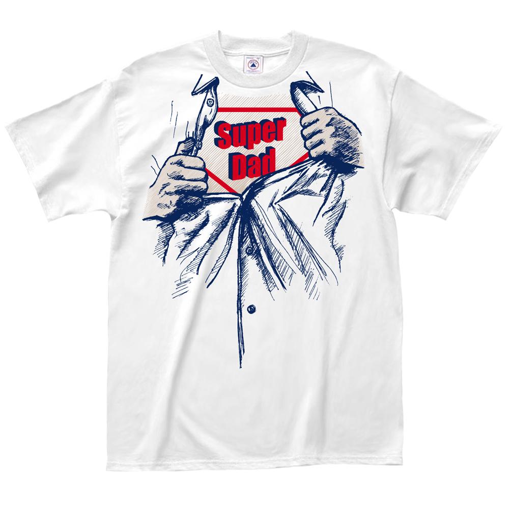 LA Imprints T-shirts Tee - Super Dad -Humor- New -White