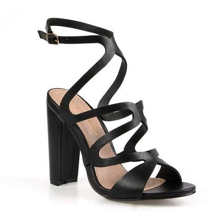Geometric Cut-out Women's High Heel Sandals