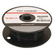 TEMPCO LDWR-1061 High temp Lead Wire,14 Ga,Black