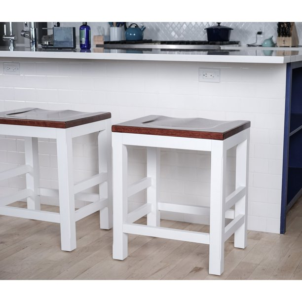 Haven Home Brant Kitchen Counter Bar Stool Walmart Com Walmart Com
