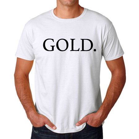 Tee Bangers Gold  Rap Song Title Mens White T Shirt New Sizes S 2Xl