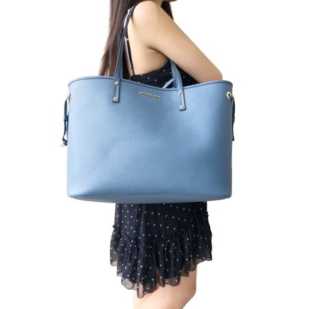 cea517b21990ae Michael Kors Jet Set Travel Large Drawstring Tote Denim Navy Blue -  Walmart.com