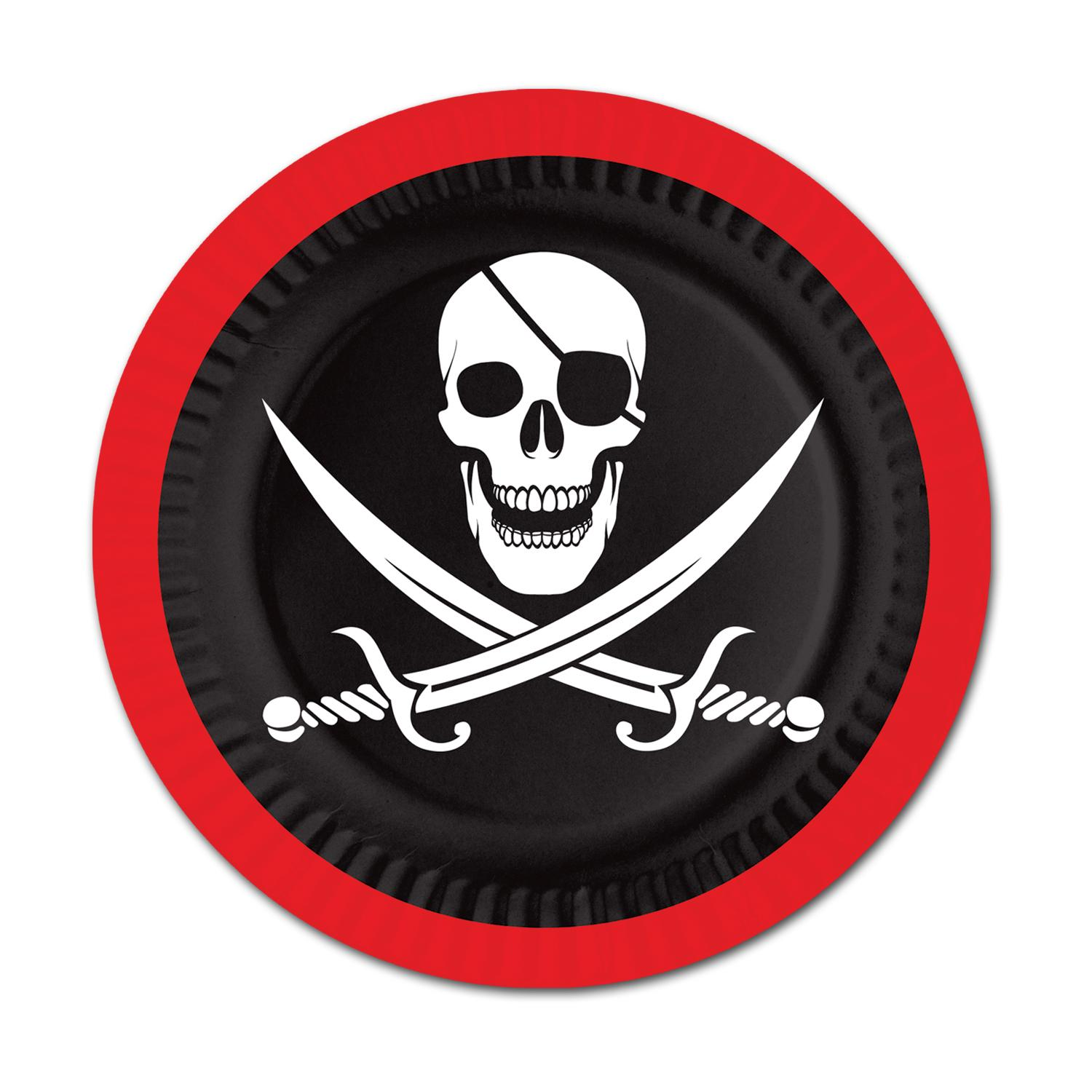 Pack of 96 Disposable Red and Black Pirate Decorative Des...