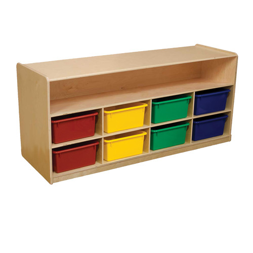 Wood Designs Mobile Low Storage with 10 Trays