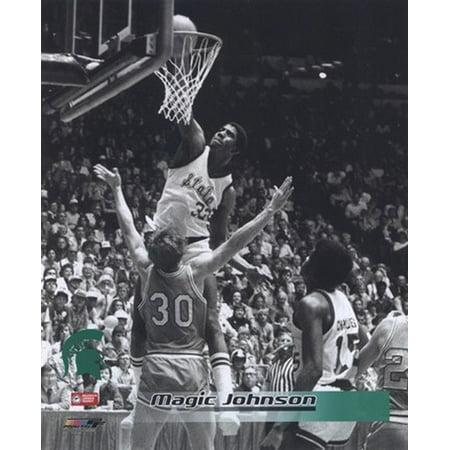 Magic Johnson Michigan State Sports Photo ()