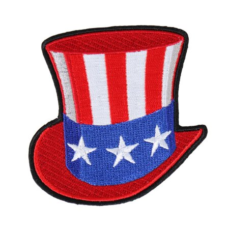 Uncle Sam Hat, Iron-on / Saw-on Rayon PATCH - 3