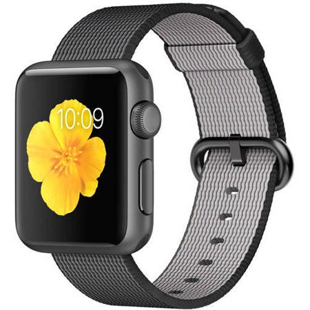 Apple Watch Sport Space Gray Aluminum Case With Black Woven Nylon 38Mm  First Generation