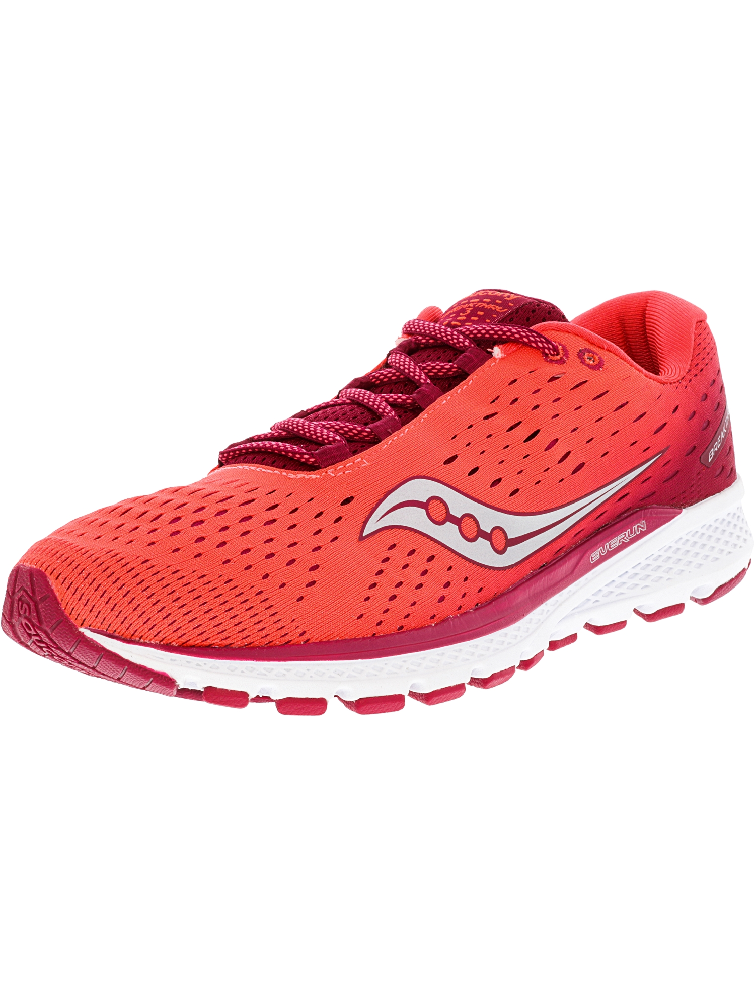 Saucony Women's Breakthru 3 Berry   Coral Ankle-High Running Shoe 6M by Saucony