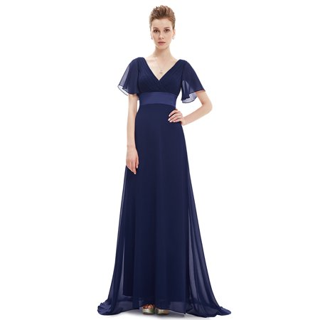 Ever-Pretty Womens Vintage Plus Size Long Evening Homecoming Party  Bridesmaid Wedding Dresses for Bride 09890 Navy Blue US16