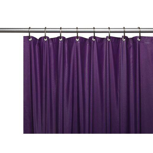 Hotel Collection, 8 Gauge Vinyl Shower Curtain Liner w/ Metal Grommets in Purple