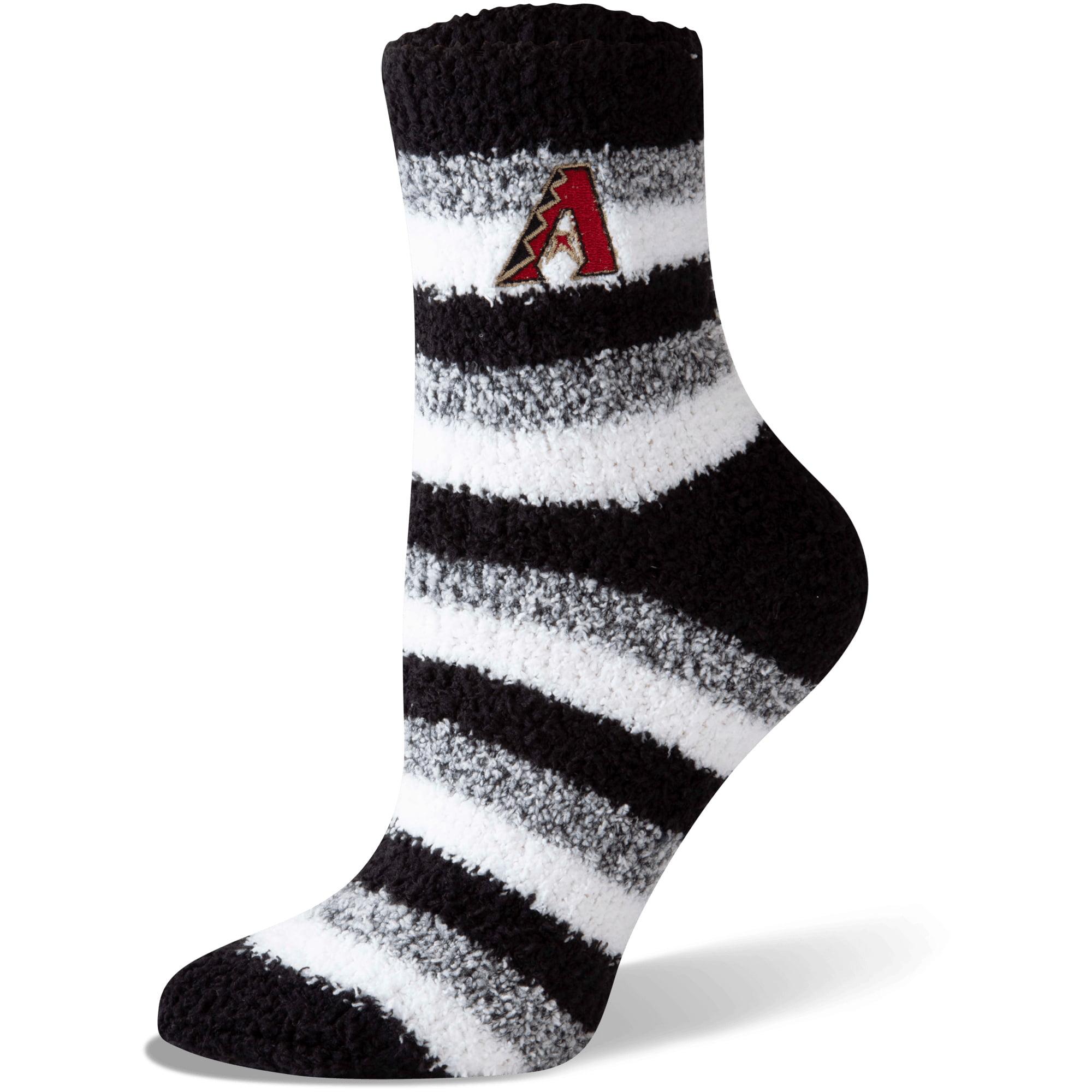 Arizona Diamondbacks Women's Fuzzy Steps Quarter-Length Socks - M