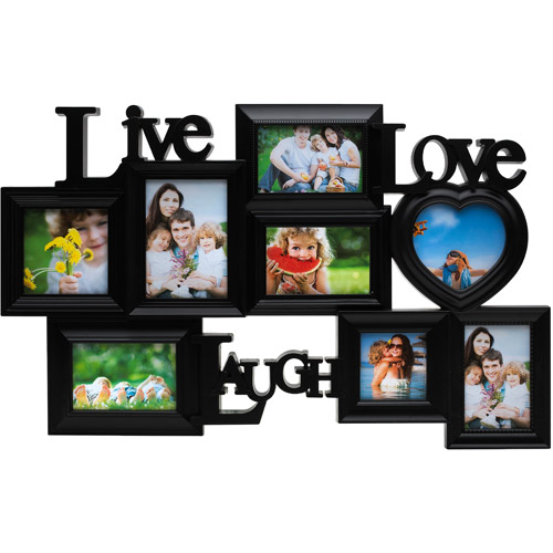 Melannco 8 Opening Live Laugh Love Collage Black Walmartcom