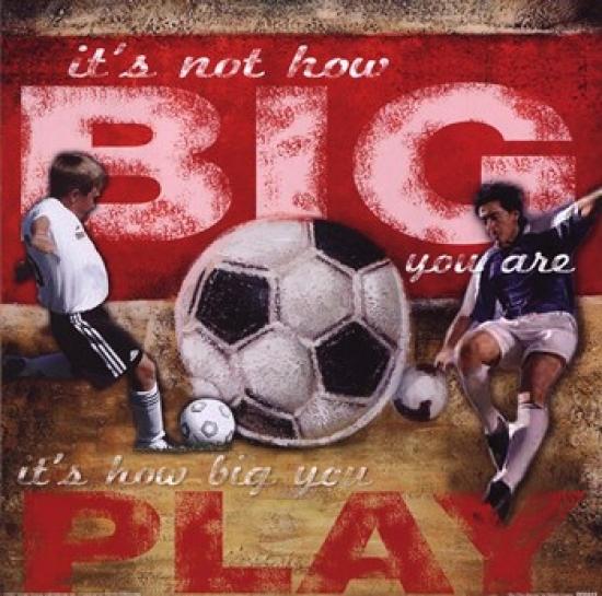 Big Play - Soccer Poster Print by Robert Downs (12 x 12)